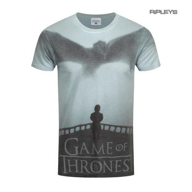 Official T Shirt Game of Thrones Sublimation Poster DROGON & Tyrion All Sizes