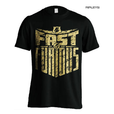 Official T Shirt FAST & FURIOUS '07 Black Huge LOGO Distressed All Sizes