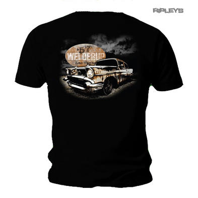 Official WELDERUP Garage Custom Car T Shirt 'Rusty 57 Chevy' Hot Rod Rat Rod