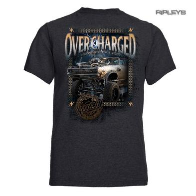 Official WELDERUP Garage Custom Hot Rod Car T Shirt '1968 Overcharged' Grey Rat