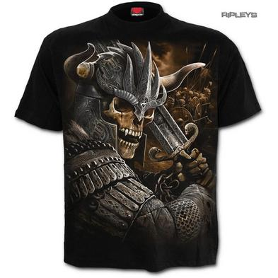 SPIRAL Direct Unisex T Shirt Goth VIKING WARRIOR Skeleton Battle All Sizes
