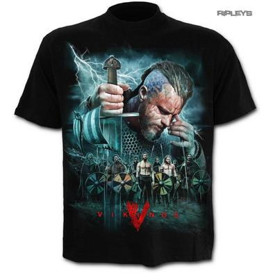 SPIRAL Direct Unisex T Shirt Vikings TV Series Ragnar BATTLE Scene All Sizes