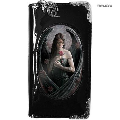 ANNE STOKES 3D Purse Wallet Black PVC Gothic Fairy 'Angel Rose'
