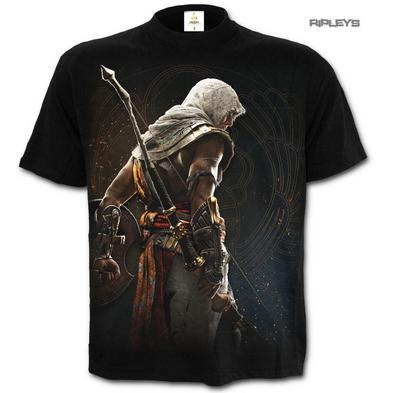 Spiral Assassins Creed Unisex T Shirt Black Flag ORIGINS 'Bayek' All Sizes