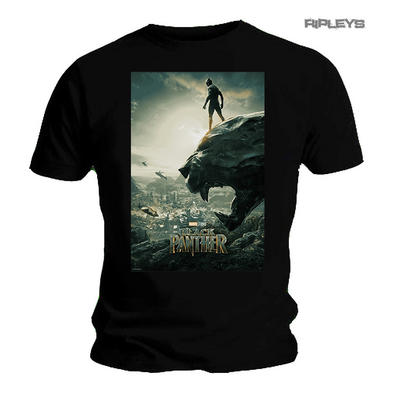 Official T Shirt Marvel Avengers BLACK PANTHER Movie 'Poster' All Sizes