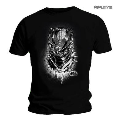 Official T Shirt Marvel BLACK PANTHER Movie 'Spray' Headshot All Sizes