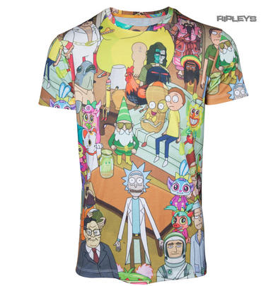 Official T Shirt RICK & MORTY Sublimation All Over Characters All Sizes