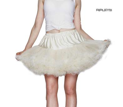 Hell Bunny All Over CREAM / IVORY TUTU Skirt Burlesque All Sizes