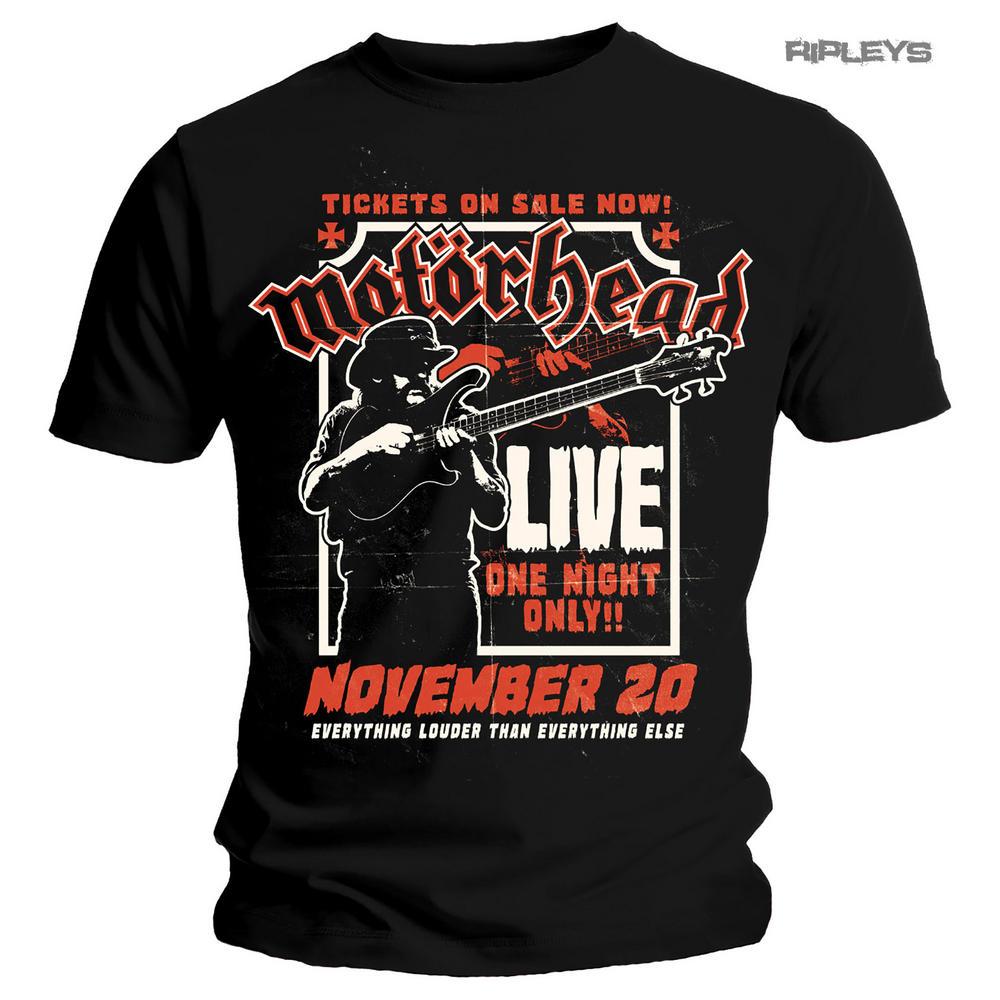 Official T Shirt MOTORHEAD Live Poster 'Lemmy Firepower' All