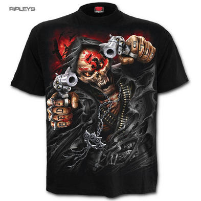 Spiral Unisex Metal T Shirt Five Finger Death Punch ASSASSIN Guns Skull All Size