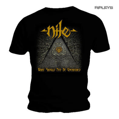 Official T Shirt NILE Death Metal Gold Logo TOUR  Not Be Unearthed All Sizes