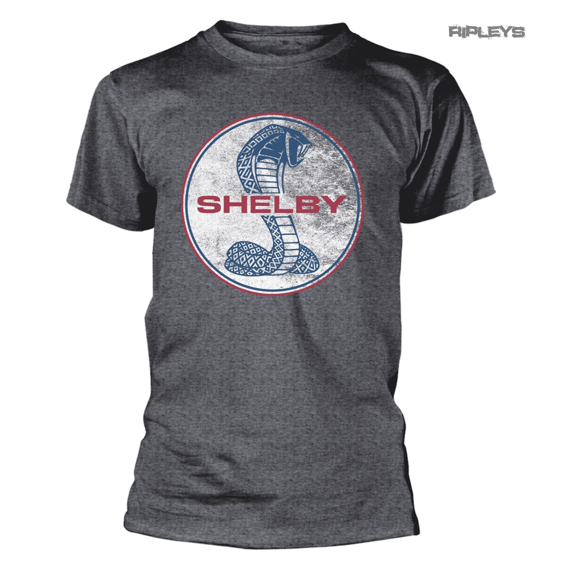 T-Shirt Officiel Carroll Shelby Original Cobra pour Homme Ford Mustang