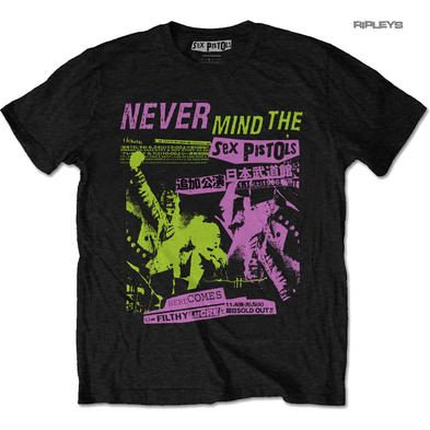 Official T Shirt SEX PISTOLS Never Mind.. Punk 'Japanese Poster' All Sizes