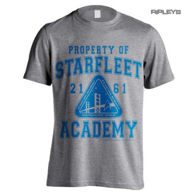 Official T Shirt Grey STAR TREK Property of Starfleet Academy 2161 All Sizes