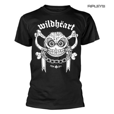 Official T Shirt THE WILDHEARTS Rock Skull Logo 'For Life' All Sizes