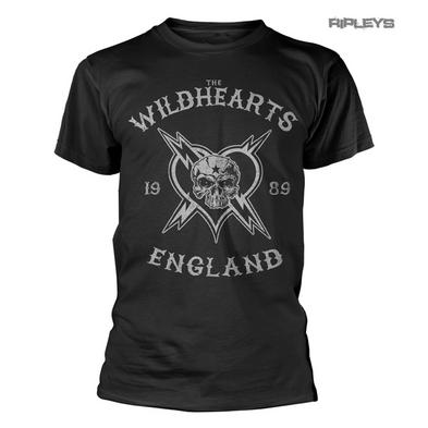 Official T Shirt THE WILDHEARTS Rock Skull Grey Logo 'England 1989' All Sizes