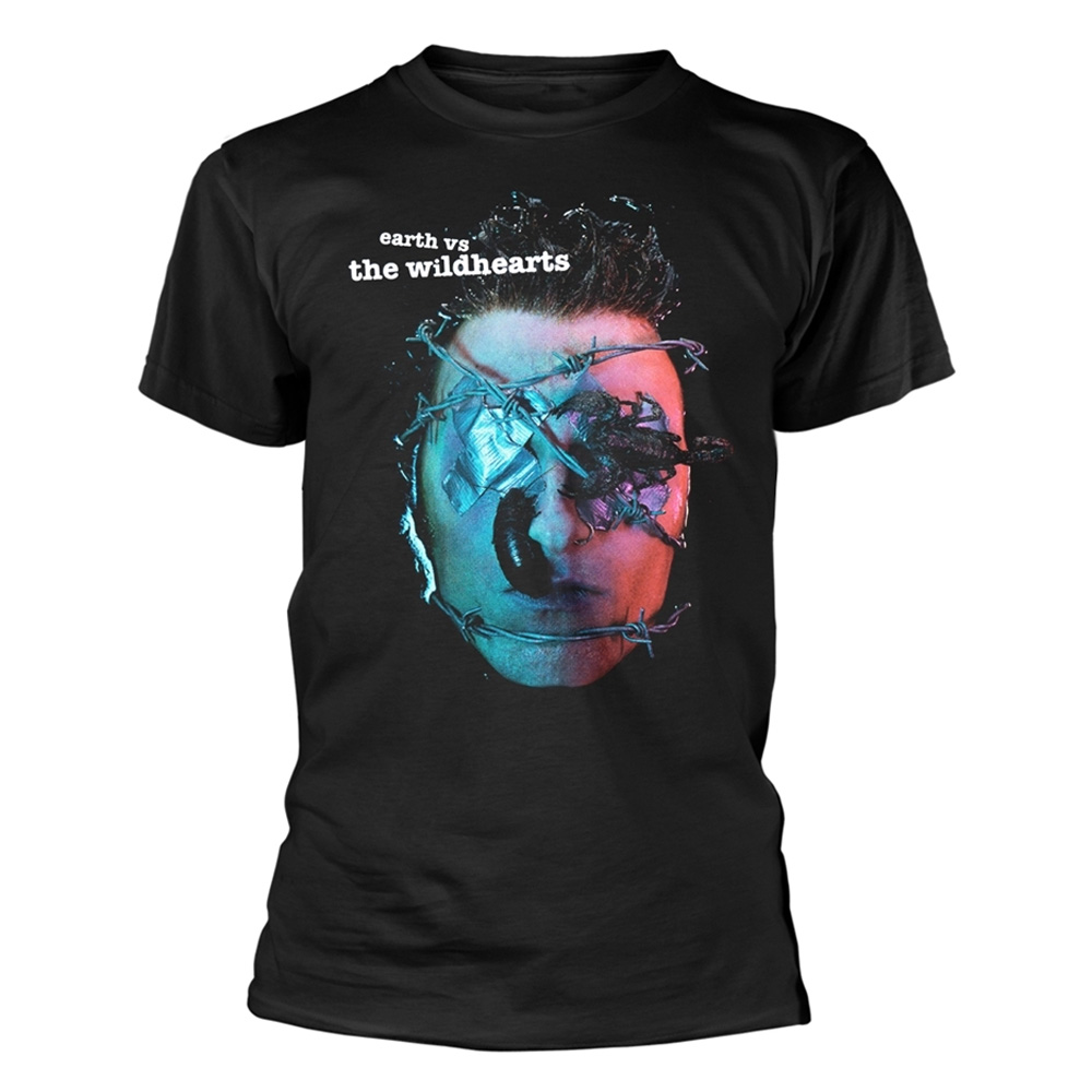 Official-T-Shirt-THE-WILDHEARTS-Album-Cover-039-Earth-Vs-The-Wildhearts-039-All-Sizes thumbnail 3