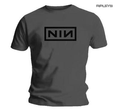 Official Grey T Shirt NIN Nine Inch Nails Classic 'Black Logo' All Sizes