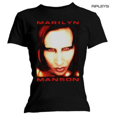 Official Ladies Skinny Marilyn Manson 'Bigger Than Satan' Face All Sizes