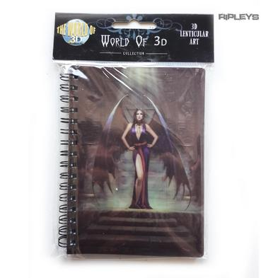 Lenticular 3D Stationary A6 Notebook Fairy Gothic Vampire Magic 'Demon Lady' #14