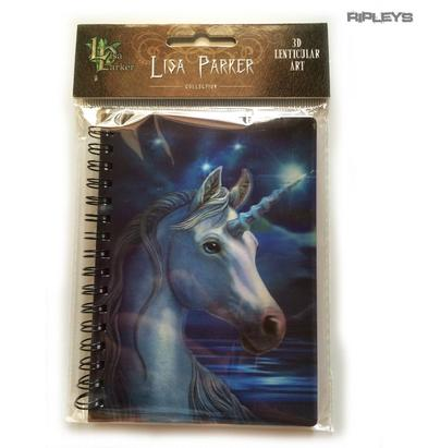 Lenticular 3D Stationary A6 Notebook Fairy Goth Lisa Parker 'Unicorn Stars' #12