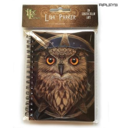 Lenticular 3D Stationary A6 Notebook Fairy Goth Lisa Parker 'Owl & Stars' #13