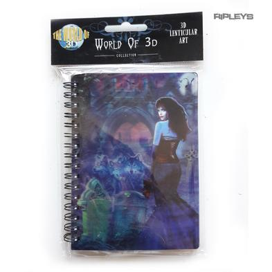 Lenticular 3D Stationary A6 Notebook Fairy Gothic Magic 'Vampire & Wolves' #15