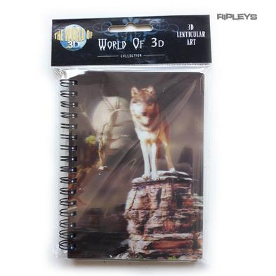 Lenticular 3D Stationary A6 Notebook Fairy Gothic Magic 'Protector Wolf' #16
