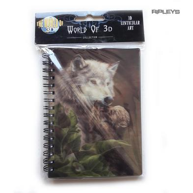 Lenticular 3D Stationary A6 Notebook Fairy Gothic Magic 'Wolf & Cub' #17