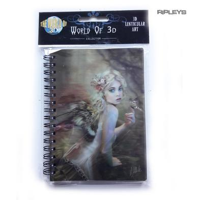 Lenticular 3D Stationary A6 Notebook Fairy Gothic Magic 'Flower Fairy' #19