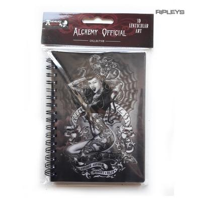 Lenticular 3D Stationary A6 Notebook Alchemy Gothic Magic 'UL13 Tattoo Girl' #28