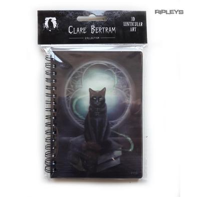 Lenticular 3D Stationary A6 Notebook Clare Bertram Goth Magic 'Witch Cat' #26