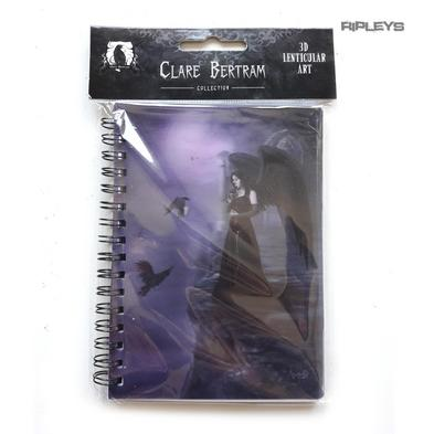 Lenticular 3D Stationary A6 Notebook Clare Bertram Goth Magic 'Crows Angel' #27