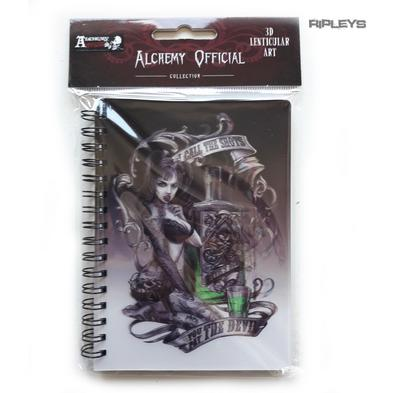 Lenticular 3D Stationary A6 Notebook Alchemy Gothic Tattoo 'Poison Girl' #29