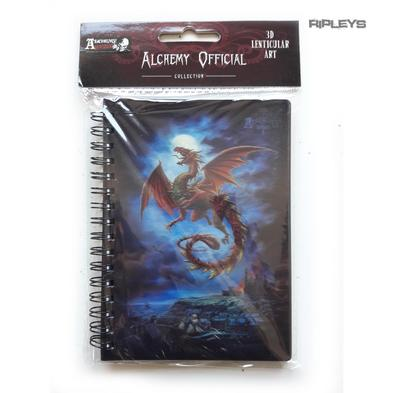 Lenticular 3D Stationary A6 Notebook Alchemy Gothic Magic 'Moonlight Dragon' #30