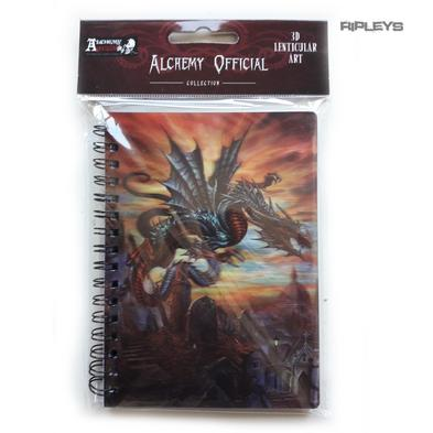 Lenticular 3D Stationary A6 Notebook Alchemy Gothic Magic 'Grave Dragon' #31