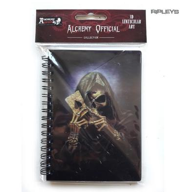Lenticular 3D Stationary A6 Notebook Alchemy Gothic Magic 'Reaper Ace' #32