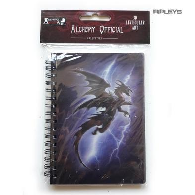 Lenticular 3D Stationary A6 Notebook Alchemy Gothic Magic 'Lightning Dragon' #35
