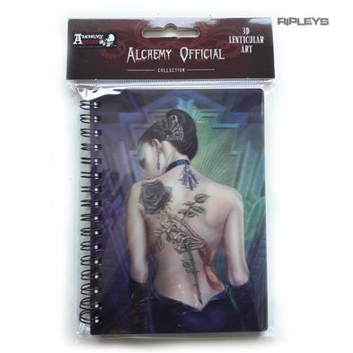 Lenticular 3D Stationary A6 Notebook Alchemy Gothic Magic 'Rose Tattoo' #34