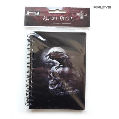 Lenticular 3D Stationary A6 Notebook Alchemy Gothic Magic 'Raven & Skull' #33