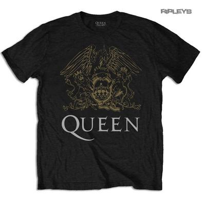 Official T Shirt QUEEN Bohemian Rhapsody Black CREST Classic All Sizes