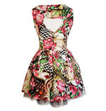 H&R Hearts & Roses London Pink Mini Dress 'Lily Checkerboard' Flowers All Sizes Thumbnail 4