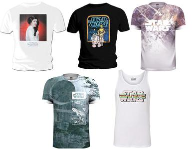 Wholesale Bargain Job Lot 25 OFFICIAL Mens T Shirts STAR WARS Death Star Leia