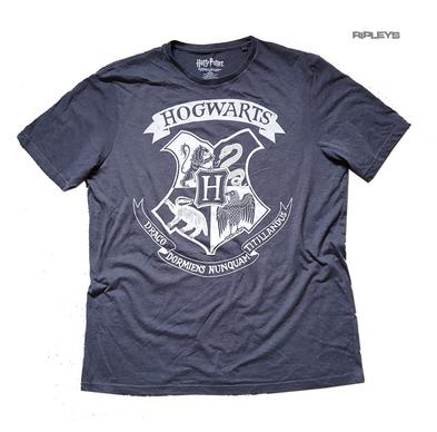 Official T Shirt Harry Potter Hogwarts Houses SIGIL Crest Charcoal Grey XLARGE