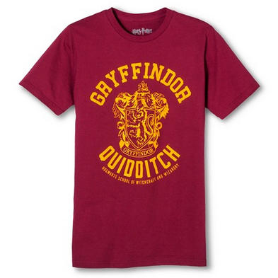 Official T Shirt HARRY POTTER Burgundy 'Gryffindor Quidditch'