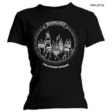 Official Skinny T Shirt Harry Potter Hogwarts Circle 'Portrait PLAIN' All Sizes