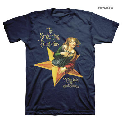 Official T Shirt SMASHING PUMPKINS Navy Blue Melon Collie Star All Sizes