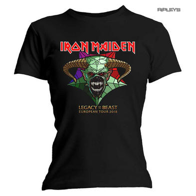 Official Ladies T Shirt Iron Maiden EU Tour 18 LOTB Legacy of The Beast All Size