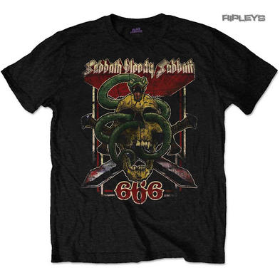 Official T Shirt BLACK SABBATH Snake Skull Bloody Sabbath 666 All Sizes