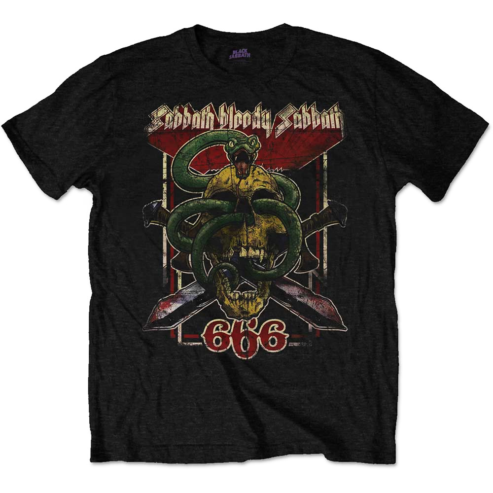 Official-T-Shirt-BLACK-SABBATH-Snake-Skull-Bloody-Sabbath-666-All-Sizes thumbnail 5